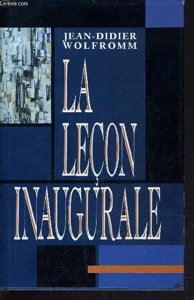 LA LECON INAUGURALE.