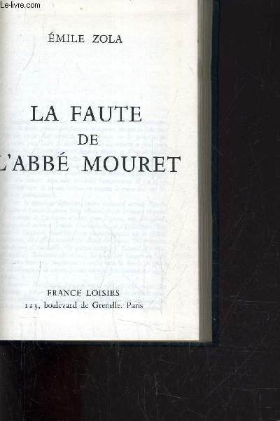 LA FAUTE DE L'ABBE MOURET.