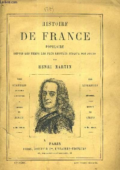 HISTOIRE DE FRANCE POPULAIRE DEPUIS LES TEMPS LES PLUS RECULES JUSQU'A NOS JOURS - 17E SERIE - la régence - Louis XV et Fleuri - Louis XV (suite) - guerre de la succession d'autriche - Louis XV et les colonies françaises guerre de 7 ans.