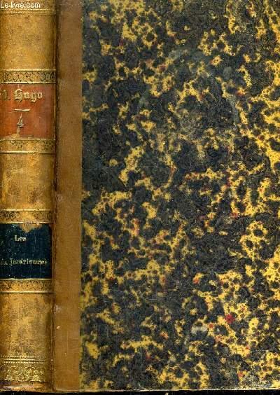 OEUVRES COMPLETES DE VICTOR HUGO : VOLUME 4 - POESIE TOME 4 - LES VOIX INTERIEURES LES RAYONS ET LES OMBRES.