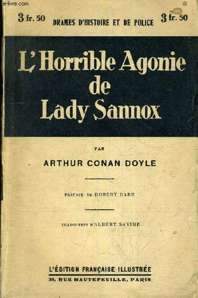 L'HORRIBLE AGONIE DE LADY SANNOX.