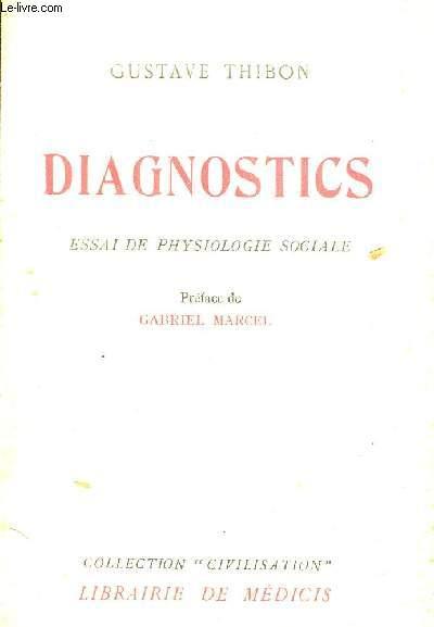 DIAGNOSTICS ESSAI DE PSYSIOLOGIE SOCIALE.