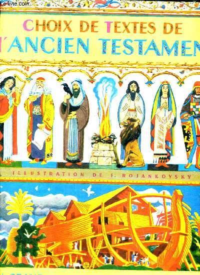 CHOIX DE TEXTES DE L'ANCIEN TESTAMENT.