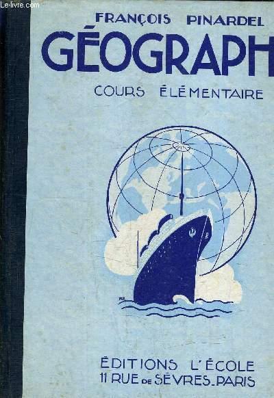 GEOGRAPHIE COURS ELEMENTAIRE - NOTIONS GENERALES LES CINQ PARTIES DU MONDE LA FRANCE - N°288.
