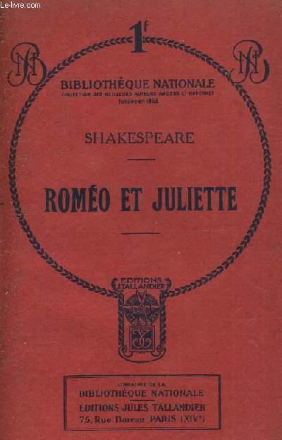 ROMEO ET JULIETTE - TRAGEDIE EN CINQ ACTES ET EN PROSE.