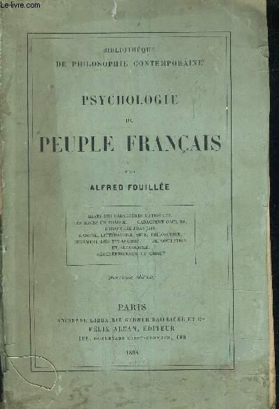 PSYCHOLOGIE DE PEUPLE FRANCAIS /2E EDITION.