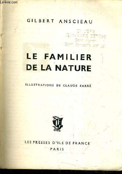 LE FAMILIER DE LA NATURE.
