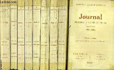 JOURNAL MEMOIRES DE LA VIE LITTERAIRE - EN 9 TOMES - TOME 1 : 1851 - 1861 - TOME 2 : 1862-1865 - TOME 3 : 1866-1870 - TOME 4 : 1870-1871 - TOME 5 : 1872-1877 - TOME 6 : 1878 - 1884 - TOME 7 : 1885-1888 - TOME 8 : 1889-1891 - TOME 9 : 1892-1895.