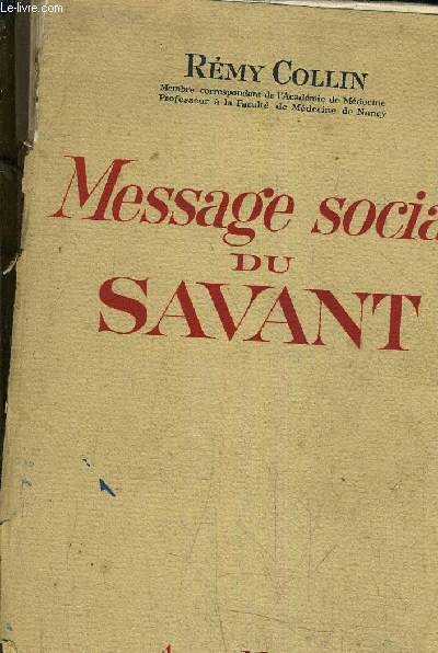 MESSAGE SOCIAL DU SAVANT.