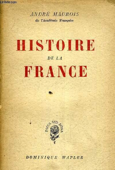 HISTOIRE DE LA FRANCE.