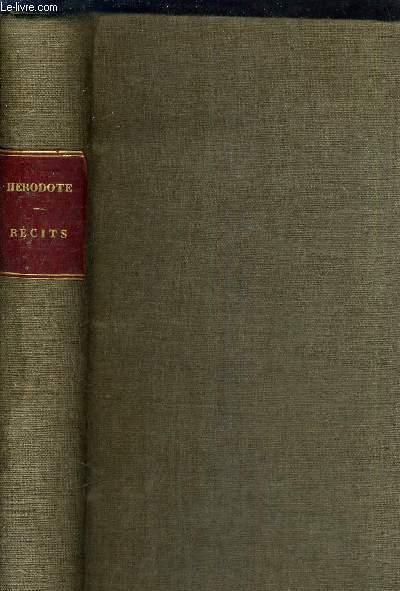 RECITS TIRES DE SES HISTOIRES - TRADUCTION NOUVELLE PRECEDEE D'UNE NOTICE BIOGRAPHIQUE ET LITTERAIRE SUR HERODOTE ET ACCOMPAGNEE DE SOMMAIRES DE NOTES GEOGRAPHIQUES ET HISTORIQUES ET DE MEDAILLES ANTIQUES SERVANT D'ILLUSTRATIONS AU TEXTE PAR M.BOUCHOT.