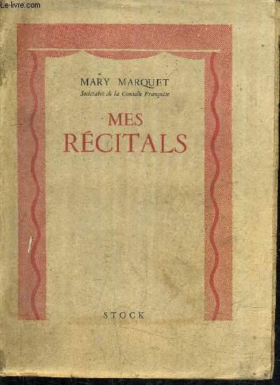 MES RECITALS (NOVEMBRE 1940-DECEMBRE 1941).