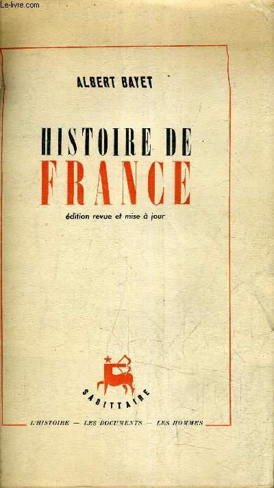 HISTOIRE DE FRANCE / EDITION REVUE ET MISE A JOUR.