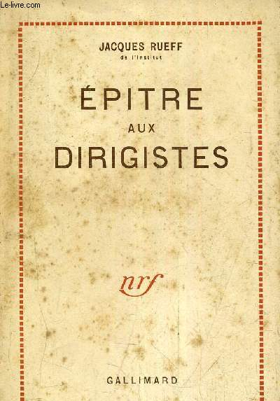 EPITRE AUX DIRIGISTES / 8E EDITION.