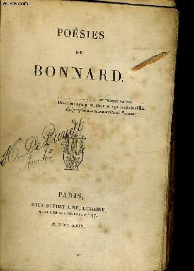 POESIES DE BONNARD.