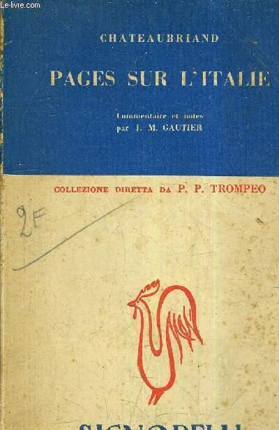 PAGES SUR L'ITALIE - COMMENTAIRES ET NOTES PAR  J.M. GAUTIER .