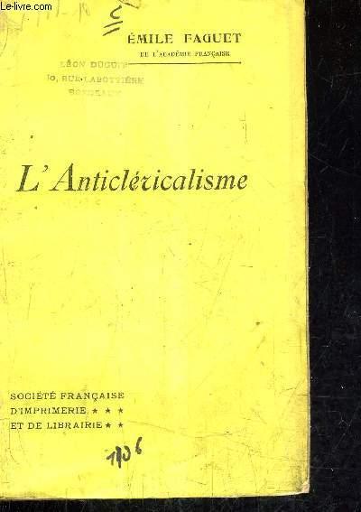 L'ANTICLERICALISME.