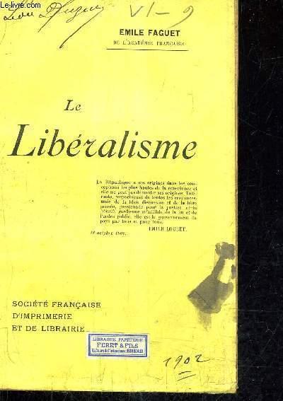 LE LIBERALISME.