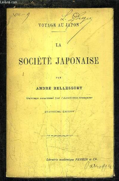 LA SOCIETE JAPONAISE - 4E EDITION.