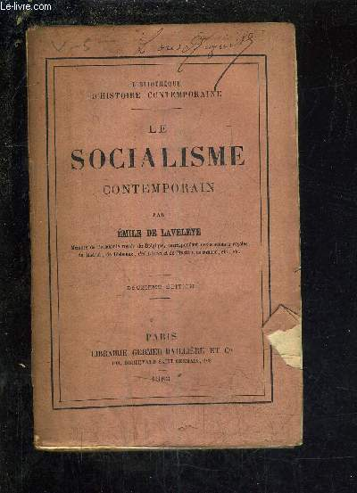 LE SOCIALISME CONTEMPORAIN /2E EDITION .