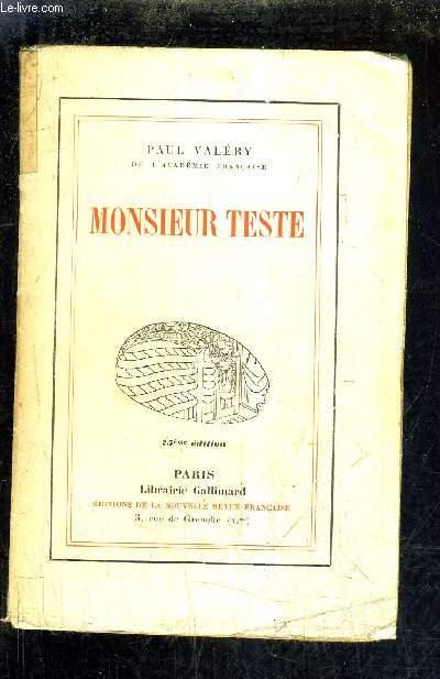 MONSIEUR TESTE.