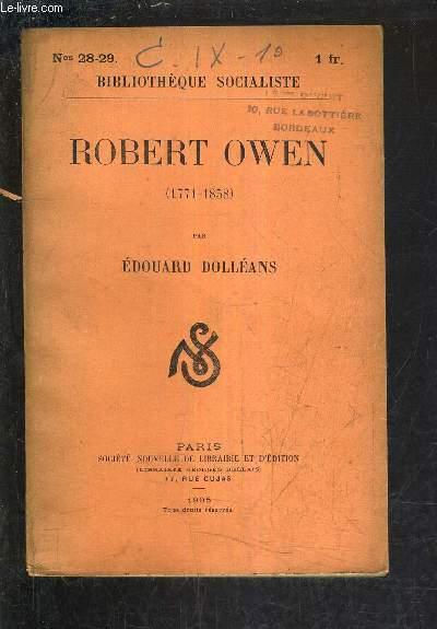 ROBERT OWEN 1771-1858.