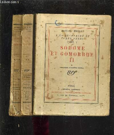 A LA RECHERCHE DU TEMPS PERDU TOME V - SODOME ET GOMORRHE II - TOME 1 + TOME 2 + TOME 3 (3 OUVRAGES) / 51E EDITION.