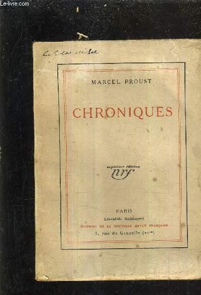 CHRONIQUES /7E EDITION - ANNEE DE L'EDITION ORIGINALE.