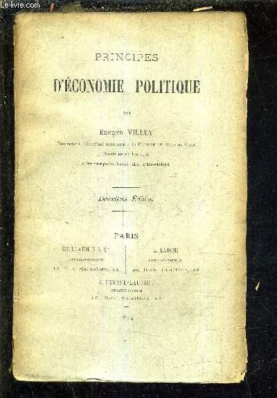 PRINCIPES D'ECONOMIE POLITIQUE /DEUXIEME EDITION.