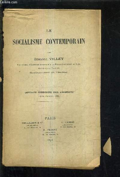 LE SOCIALISME CONTEMPORAIN.