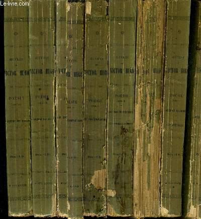 OEUVRES DE VICTOR HUGO POESIE / NOUVELLE EDITION ORNEE DE VIGNETTES ET AUGMENTEE DE LA LEGENDE DES SIECLES - EN 8 TOMES.