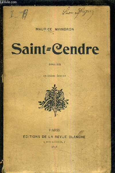 SAINT CENDRE / 9E EDITION / ROMAN.