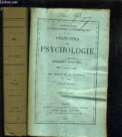 PRINCIPES DE PSYCHOLOGIE - EN DEUX TOMES - TOMES 1 + 2 / NOUVELLE EDITION.