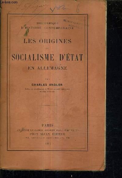 LES ORIGINES DU SOCIALISME D'ETAT EN ALLEMAGNE.