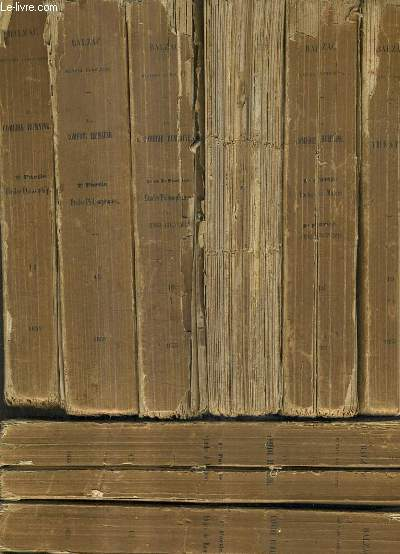 OEUVRES COMPLETES DE H. DE BALZAC - LA COMEDIE HUMAINE - EN 19 VOLUMES.