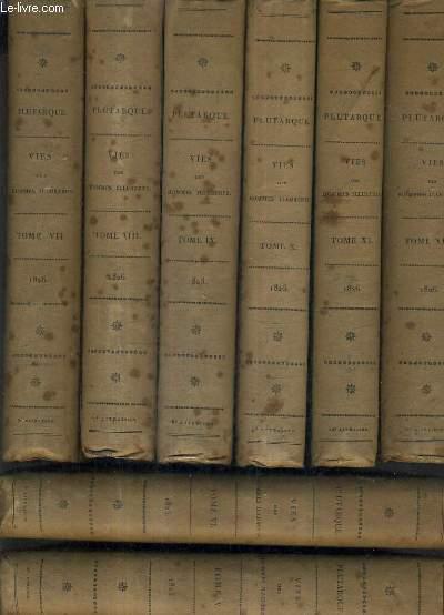 LES VIES DES HOMMES ILLUSTRES / TRADUITES DU GREC DE PLUTARQUE PAR J.AMYOT / NOUVELLE EDITION AVEC UN CHOIX DE NOTES DES DIVERS COMMENTATEURS ET UNE NOTICE SUR PLUTARQUE PAR M.CORAY / EN 12 TOMES.