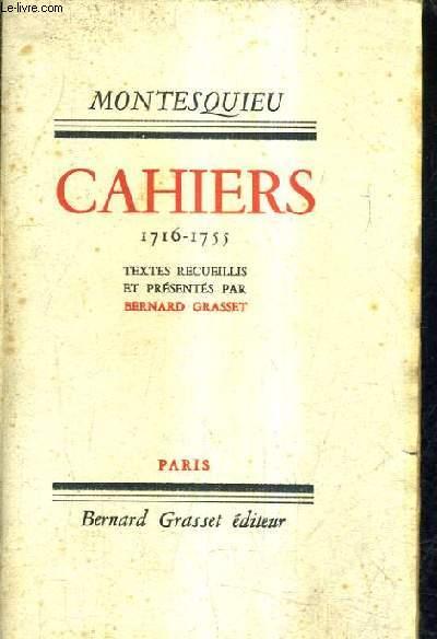 MONTESQUIEU / CAHIERS 1716-1755.