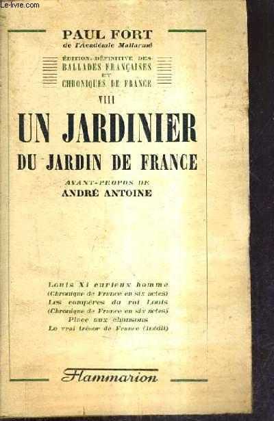 UN JARDINIER DU JARDIN DE FRANCE.