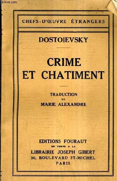 CRIME ET CHATIMENT.