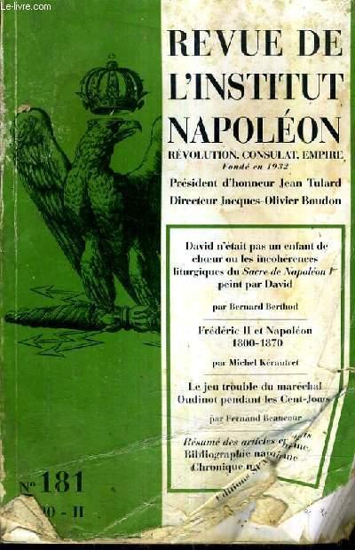 REVUE DE L'INSTITUT NAPOLEONN°181 2000-II.