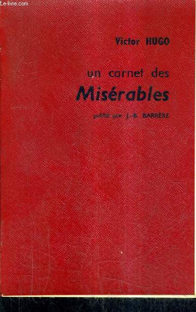 UN CARNET DES MISERABLES OCTOBRE DECEMBRE 1860.