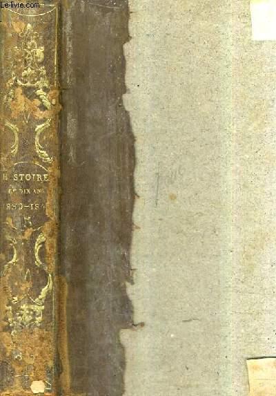 REVOLUTION FRANCAISE - HISTOIRE DE DIX ANS 1830-1840 - TOME 5 : PREMIERE A QUATRIEME EDITION.