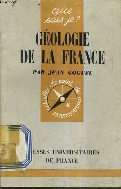 GEOLOGIE DE LA FRANCE.