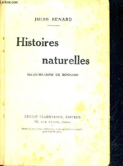 HISTOIRES NATURELLES.