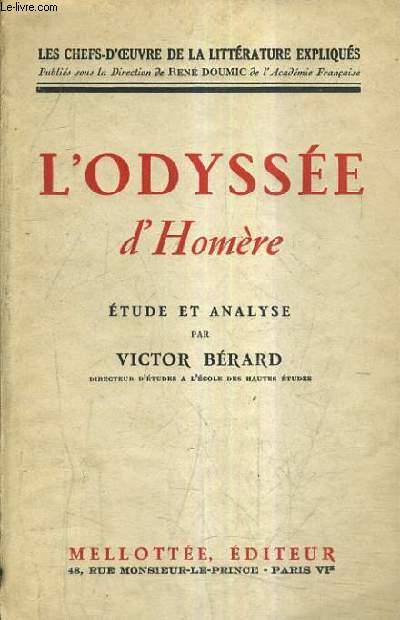 L'ODYSEE D'HOMERE - ETUDE ET ANALYSE PAR VICTOR BERARD.