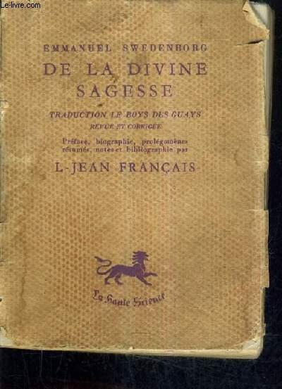 DE LA DIVINE SAGESSE.
