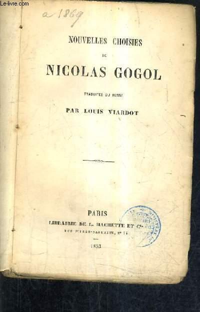 NOUVELLES CHOISIES DE NICOLAS GOGOL.