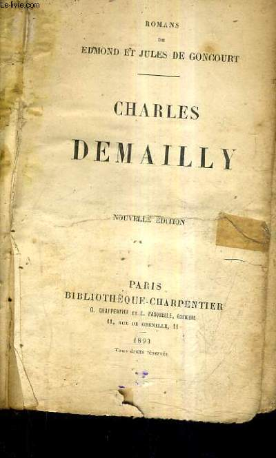 CHARLES DEMAILLY / NOUVELLE EDITION.