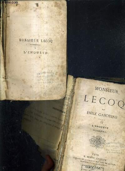 MONSIEUR LECOQ - L'ENQUETE - EN 3 OUVRAGES - TOME 1 + TOME 2
