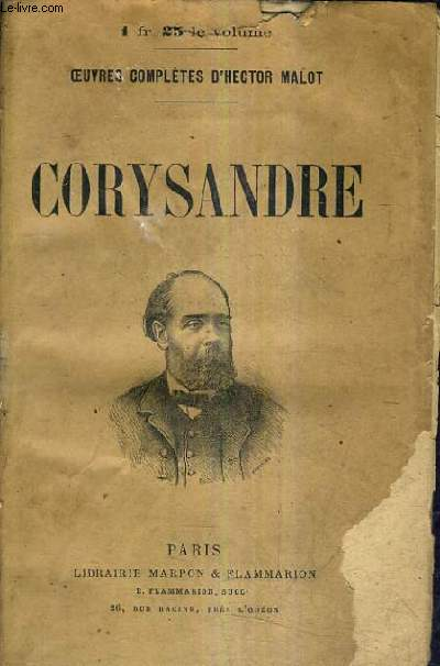 CORYSANDRE / OEUVRES COMPLETES D'HECTOR MALOT .